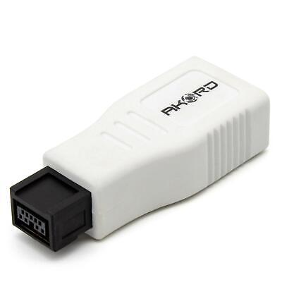 AKORD FireWire 400 To 800 6 Pin To 9 Pin Male Adapter - White • 3.99£