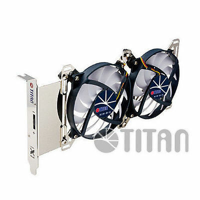 Titan Adjustable Dual Fan PCI Slot VGA Cooler TTC-SC07TZ • 19.22£