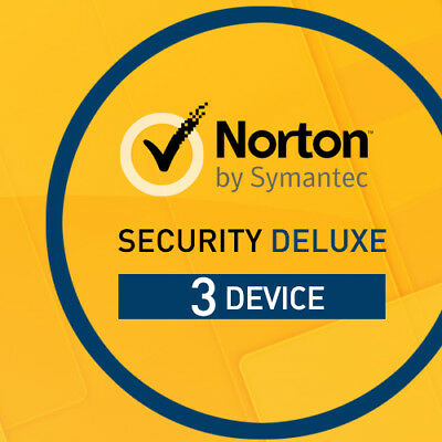 Norton Security Deluxe 2021 3 Devices 3 PC 1 Year 2021 PC MAC 3 User Internet UK • 12.55£