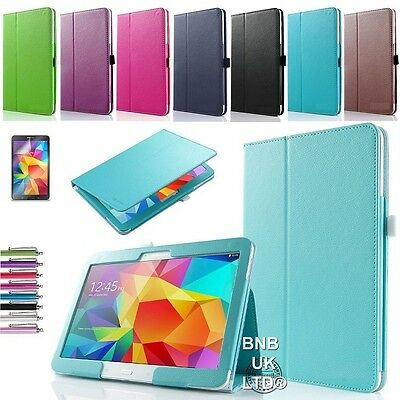 PU Leather Folio Case Stand Cover For Various Samsung Galaxy Tab Tablets • 4.99£