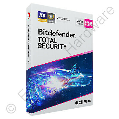 Bitdefender Total Security & VPN Multi Device 2020 5 Users 1 Year Licence Key • 19.75£