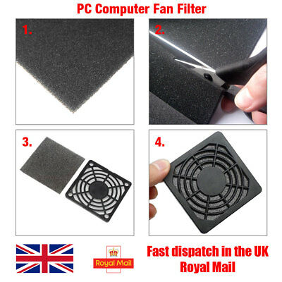 PC Computer Fan Dust Proof Filter Foam Sheet, 3mm Thick, 25cm X 25cm (625cm²) • 4.49£