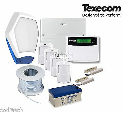 Texecom Veritas Excel Fully Featured Wired Burglar Alarm Kit With Petwise PIRs * • 199.99£