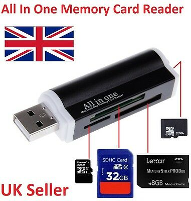 All In One All In 1 USB Memory Card Reader Adapter For Micro SD MMC SDHC TF M2 • 2.49£