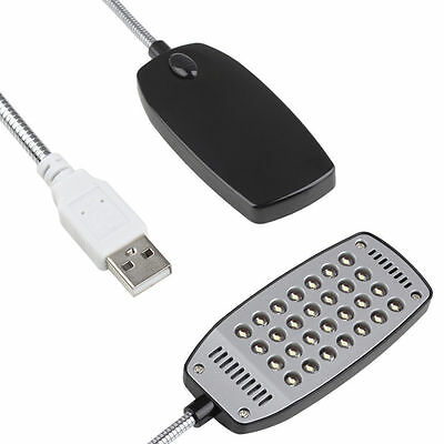 Mini Bright Flexible 28 LED USB Light Computer Lamp Laptop PC Electronic Desk TT • 2.79£