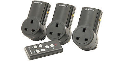 3 X Remote Control UK 240V Wireless Mains Sockets - Switch Adapter Plug In RF • 29.99£
