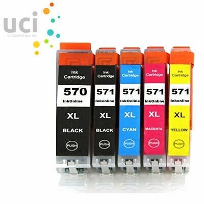 LOT Ink For Canon Pixma MG5750 MG5751 MG5752 MG5700 MG5753 MG6850 PGI570XL • 13.74£