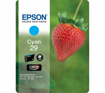 EPSON Strawberry 29 Cyan Ink Cartridge - Currys • 8.99£