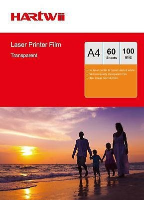 Overhead Projector OHP Film Acetate Clear A4 For Laser Printer - 60 Sheets Hartw • 7.59£