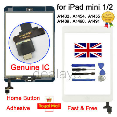 For IPad Mini 1 2 A1432 A1454 A1455 A1489 A1490 A1491 White Replacement Screen • 10.39£