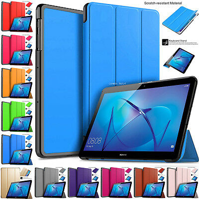 Leather Smart Stand Shell Folio Flip Case Cover For Huawei MediaPad T3 10  Inch • 6.86£