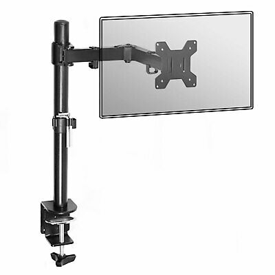 Fully Adjustable Single Arm Monitor Mount Desk Stand Bracket With Clamp M&W • 19.49£