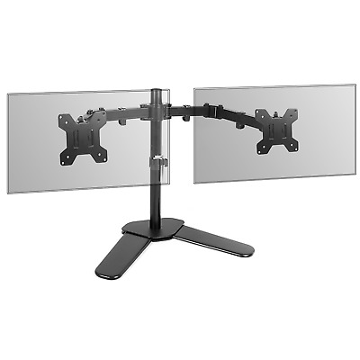 Fully Adjustable Dual Monitor Stand Desk Stand Versatile Stable Base M&W • 19.99£