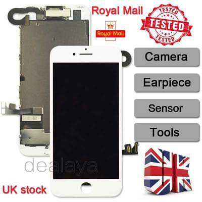 For Full IPhone 7 4.7  Touch Screen Display Replacement Digitizer + Camera White • 18.92£