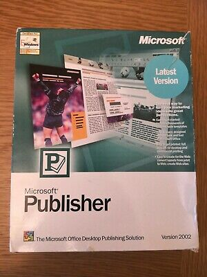 Microsoft Publisher 2002 Full Retail Boxed, With Licence Key And Media Content • 23£