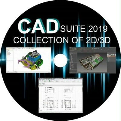 CAD 2D/3D Drawing - DXF Compatible Draw Software - 6 FULL PROGRAMS YOU CHOOSE • 9.99£