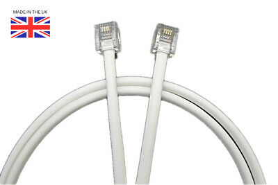 6M White Router Extension DSL Cable Fast Broadband Connection RJ11 RJ45 BT SKY • 6.99£