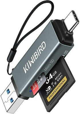 KiWiBiRD USB-C SD Card Reader, Micro SD To USB 3.0, Type-C Adapter For SDHC SDXC • 7.49£