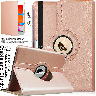 For Apple IPad 10.2  2019 (7th Generation) 360 Rotating Leather Smart Case Cover • 5.96£