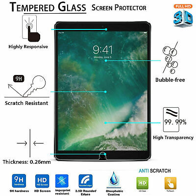Tempered Glass LCD Screen Protector For NEW Apple IPad 5th Generation 9.7 (2017) • 3.95£