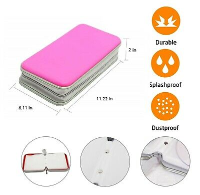 80 CD DVD Carry Case Disc Storage Holder CD Sleeve Wallet Ideal For In Car PINK • 6.75£