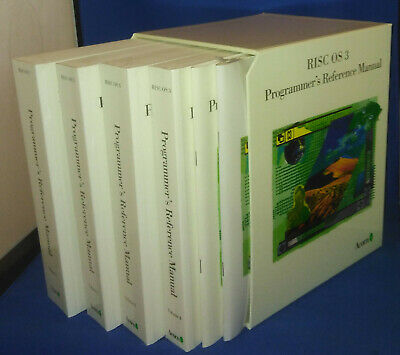 NEW! Acorn RISC OS 3.1 Programmer's Reference Manuals (PRMs) • 89.95£