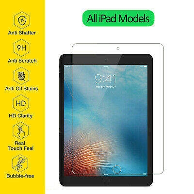 Tempered Glass Film Screen Protector For Apple IPad 1 2 3 4 Mini Air Pro 11 10.2 • 3.95£