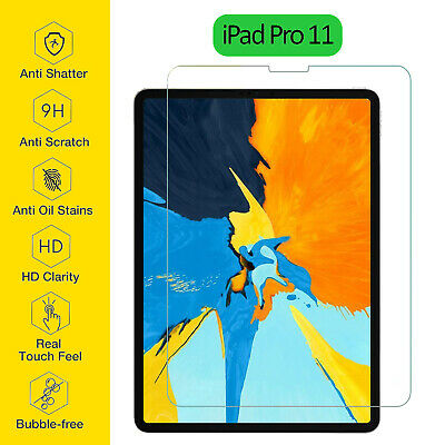 Tempered Glass Film Screen Protector Ultra Thin Clear For Apple IPad Pro 11 Inch • 3.95£