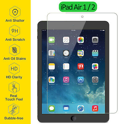 Tempered Glass Film Screen Protector Ultra Thin Clear For Apple IPad Air 1 2 9.7 • 3.95£