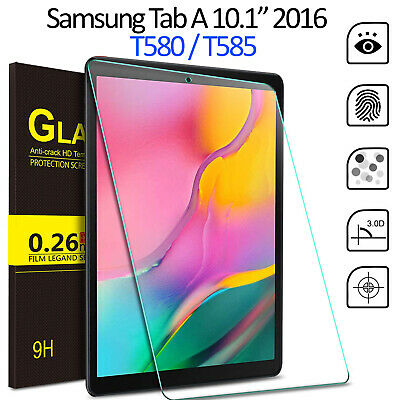 Tempered Glass Screen Protector For Samsung Galaxy Tab A 10.1 2016 SM T580 T585 • 3.95£