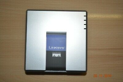 Brand New Unlocked VoIP Linksys PAP2T With 2 Phone Ports Phone Adapter • 24.99£