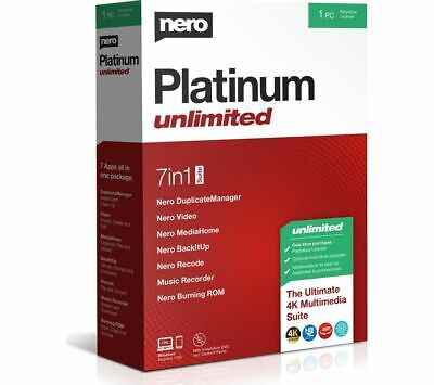 NERO Platinum Unlimited 2020 - Lifetime For 1 User - Currys • 39.99£