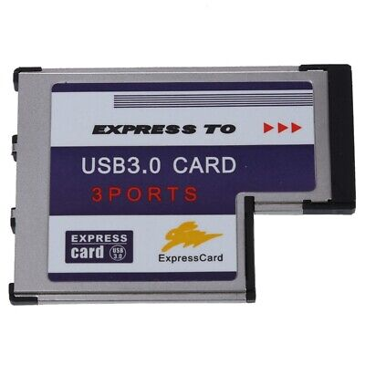 3 Port USB 3.0 Express Card 54mm PCMCIA Express Card For Laptop NEW I1C7 • 9.78£