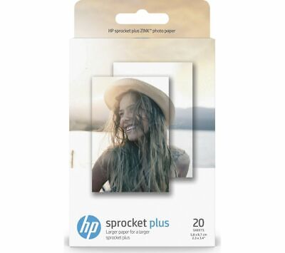 HP 2LY72A Sprocket Plus 5.8 X 8.7 Cm Glossy Photo Paper - 20 Sheets - Currys • 9.99£