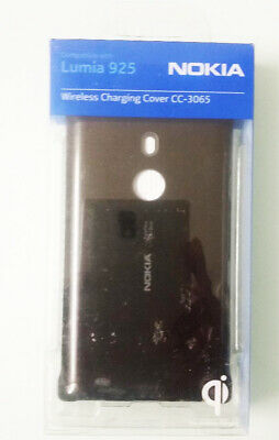 Genuine Nokia Cc-3065 Wireless Charging Shell Cover Case For Lumia 925 | Black • 7.99£
