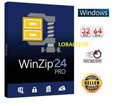 WinZip 24 PRO - LIFETIME - For One PC - For WINDOWS 32 Bits / 64 Bits • 2.49£