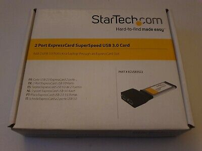 StarTech.com ECUSB3S22 2 Port ExpressCard SuperSpeed USB 3.0 With UASP Support • 30.90£
