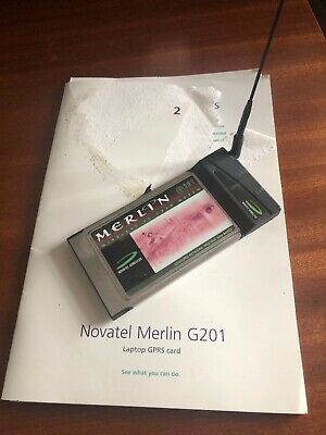 Novatel Wireless Merlin G201 PC Card Modem GSM / GPRS Network 900/1800 MHz Bands • 4.99£