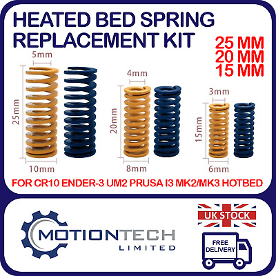 Heated Bed Leveling Springs Replacement 4 Pack 3D Printer CR-10 Ender CR-10S • 4.50£