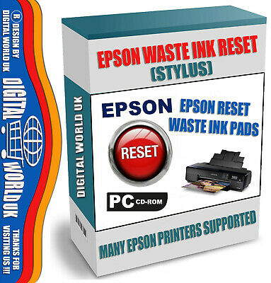 Epson Printer Waste Ink Pad Counter Reset Stylus Photo Service Software In 1 Cd • 2.79£