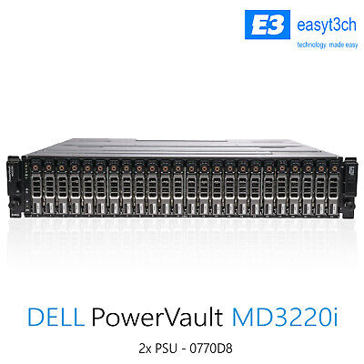 Dell PowerVault MD3220i SAN Storage Array 24x 2.5  Bay 1Gb ISCSI Controller • 1,300£