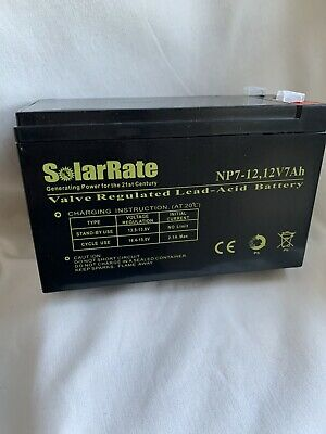 12v 7ah Valve Regulated Lead Acid Battery CE • 8.97£