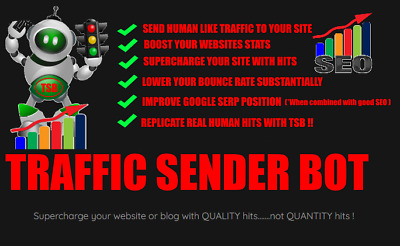 Website Traffic Bot Software,supercharge Website Visits ,traffic Sender Bot,  • 2.99£
