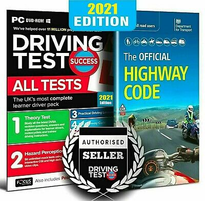 2020 CD/DVD ROM Driving Theory Test & Hazard + Highway Code Book. Latest Edition • 8.99£