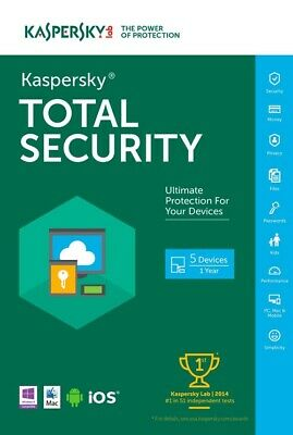 Kaspersky Total Security 2020 For 5 PC / Devices 1 Year Download Key EU • 21.45£