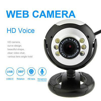 USB 2.0 HD 480P Webcam Camera For Computer XP/PC Laptop Video Microphone 6LED • 11.29£