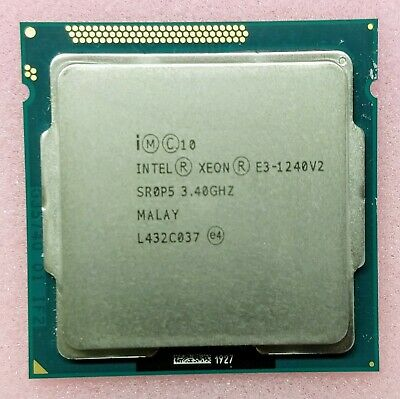 Intel Xeon Processor E3-1240 V2 3.40GHz Turbo 3.8Ghz CPU 8MB Cache SR0P5 LGA1155 • 49.99£