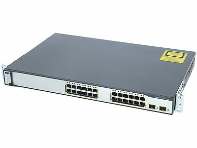 Cisco Switch Catalyst 3750 Series PoE-48 48 Port 10/100 WS-C3750-48PS-S Network • 36.98£