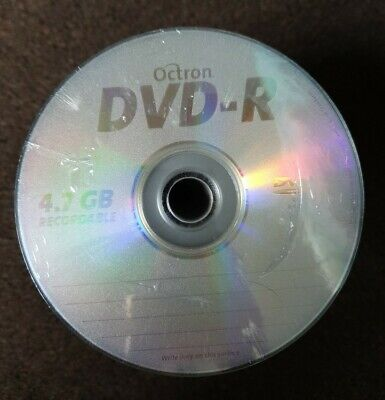 100 PACK NEW Octron DVD-R 4.7GB Recordable Silk Top  • 13.99£