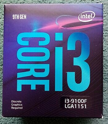 Intel Core I3 9100F 3.6GHz Quad Core LGA1151 CPU — Used • 33£